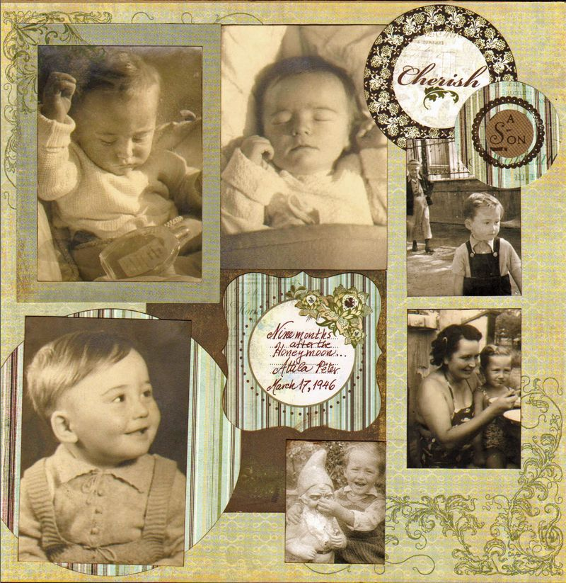 children's scrapbook layout