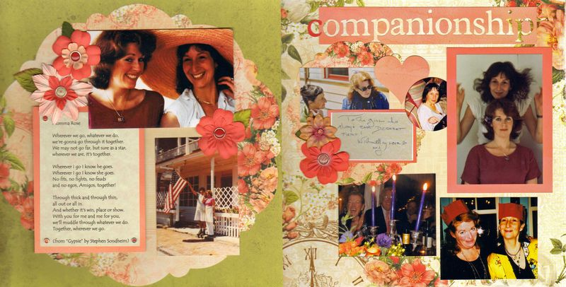 western scrapbook layout