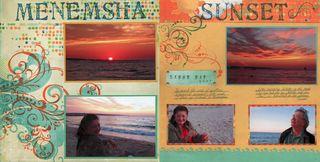 summer scrapbook layout