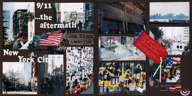 9/11 scrapbook layout