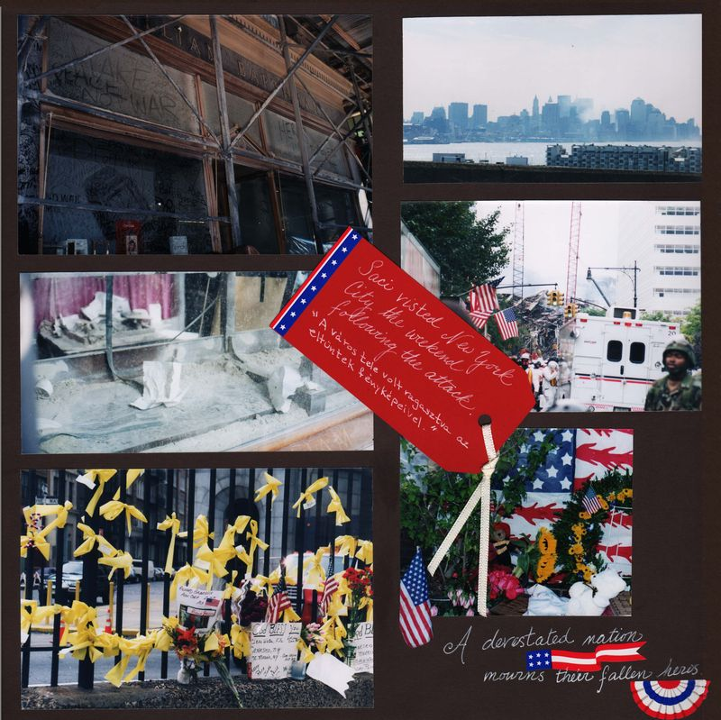 9/11 scrapbook layout