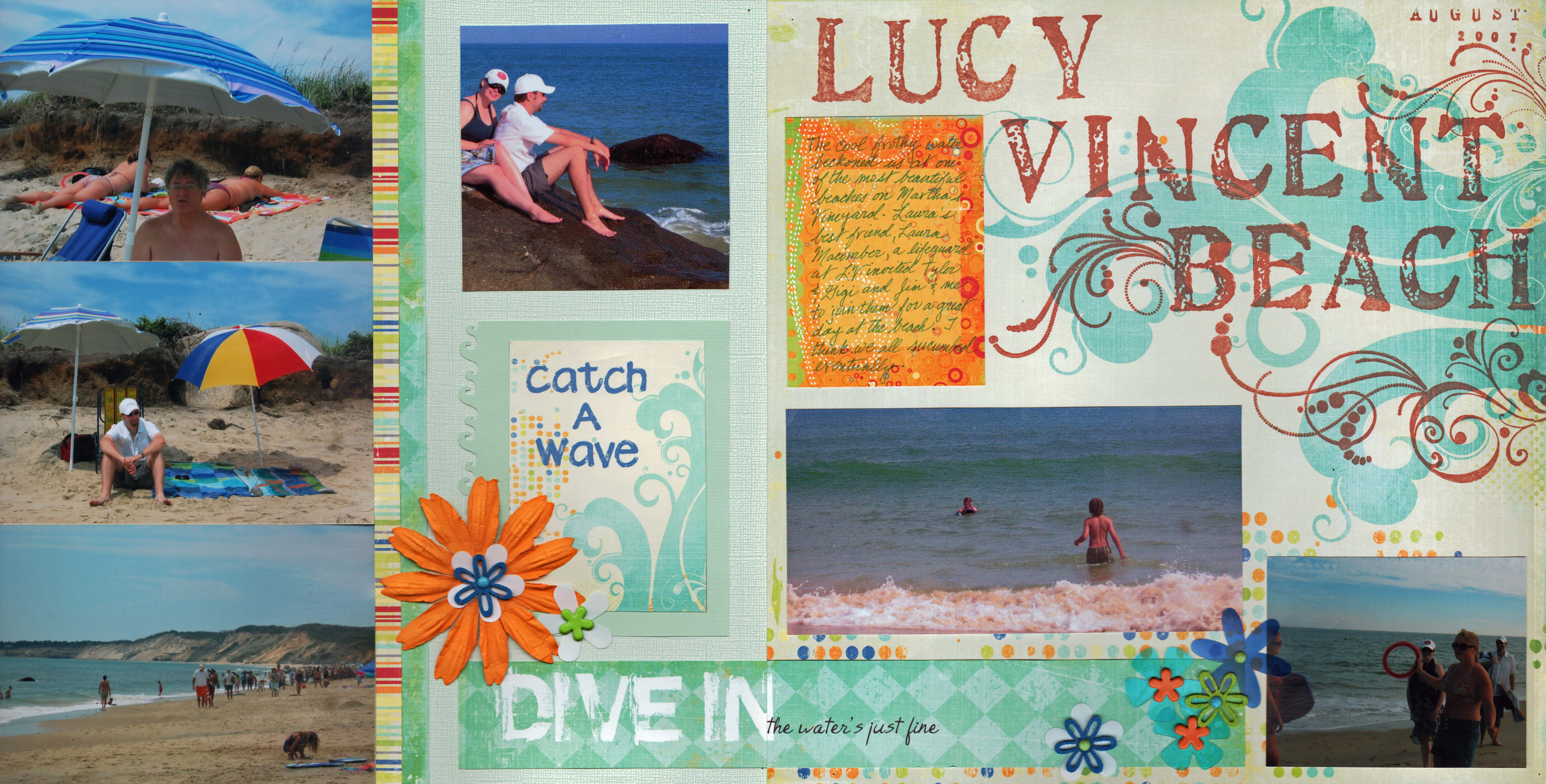Summer vacation scrapbook ideas -  Summer Scrapbook Layout