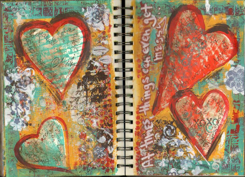 mixed media art journaling