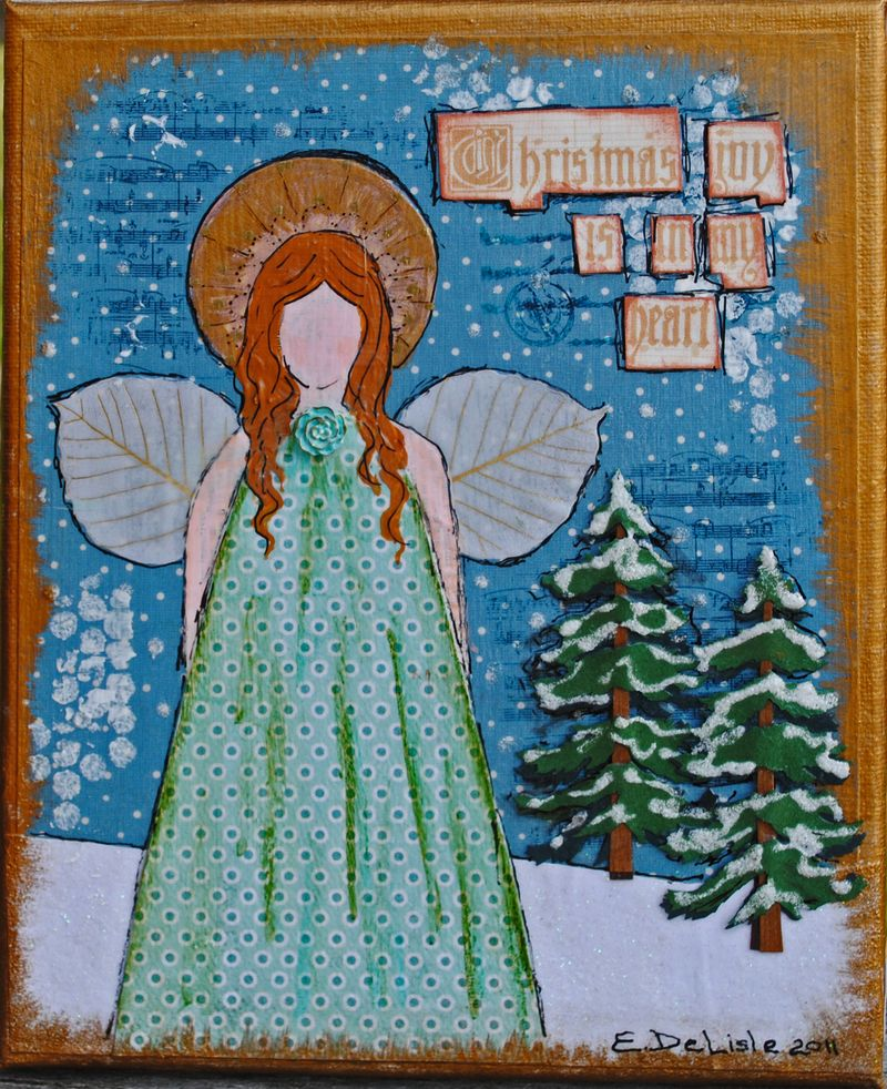 mixed media angel
