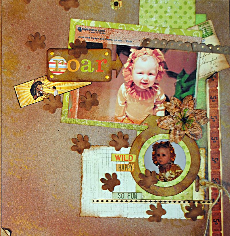 upcycled scrapbooking