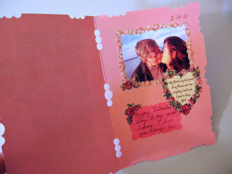 Kissing Valentine inside