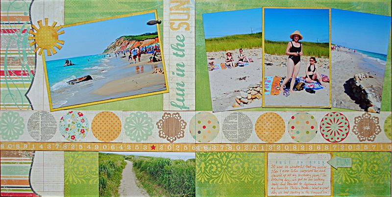 scrapbooking summer layout