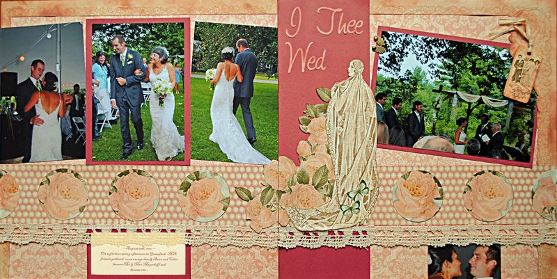 scrapbooking wedding layout