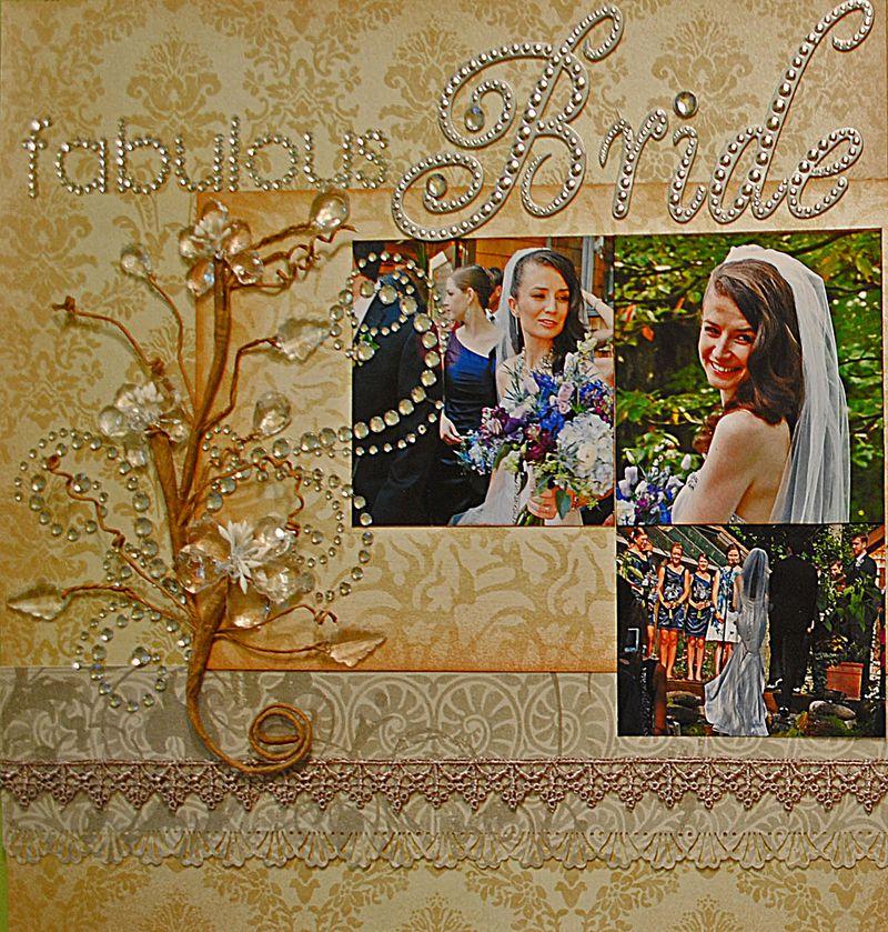 Wedding Layout detail left