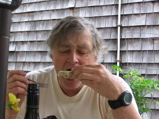 Jim Sucking Down an Oyster
