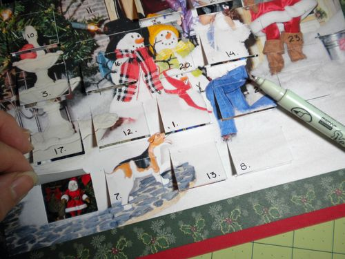 advent calendar scrapbooking