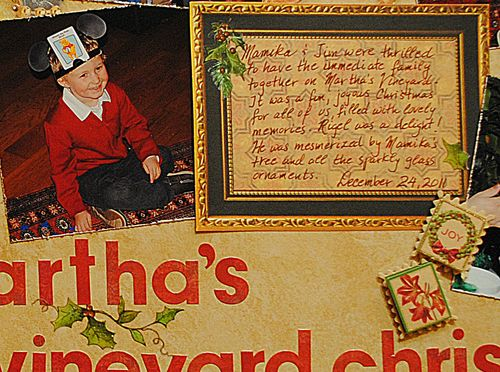 Christmas Scrapbooking layout