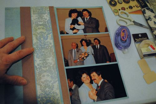 scrapbooking wedding layout