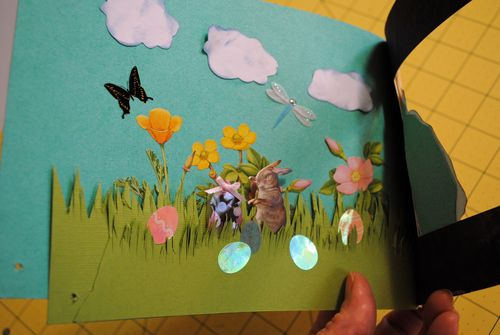 Easter, diorama, 3-D cards, cardmaking, scrapbooking