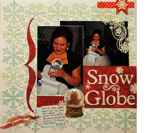 scrapbooking, Christmas layout