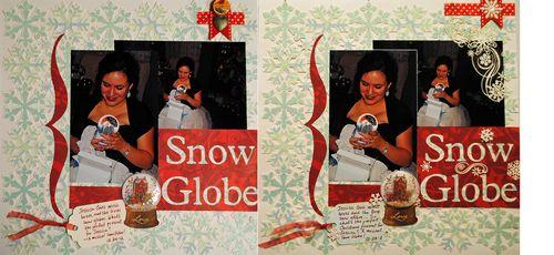 scrapbooking, Christmas scrapbook layouts