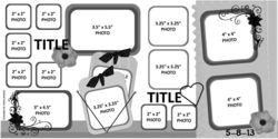 scrapbooking, western layouts, scrapbooking layouts