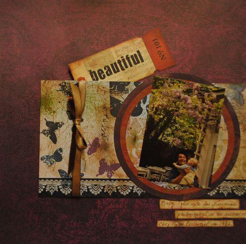 scrapbooking, summer layouts, western scrapbook layouts