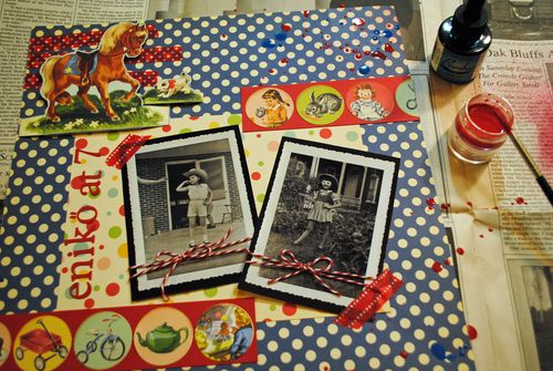 scrapbooking, October Afternoon, Western layouts